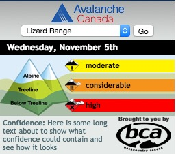 Avalanche Widget